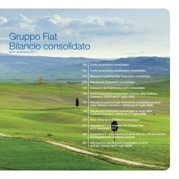 Gruppo Fiat Bilancio consolidato - Fiat SpA
