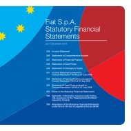 Fiat S.p.A. Statutory Financial Statements - Annual Report 2012