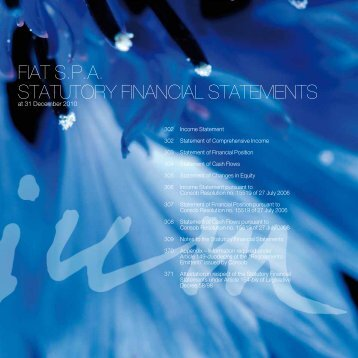 FIAT S.P.A. STATUTORY FINANCIAL STATEMENTS