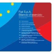 Fiat S.p.A. Bilancio d'esercizio - Annual Report 2012