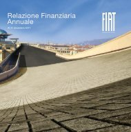 Relazione Finanziaria Annuale al 31 dicembre 2011 - Fiat SpA