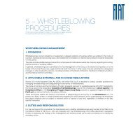 5 – WhistlebloWing Procedures - Fiat SpA