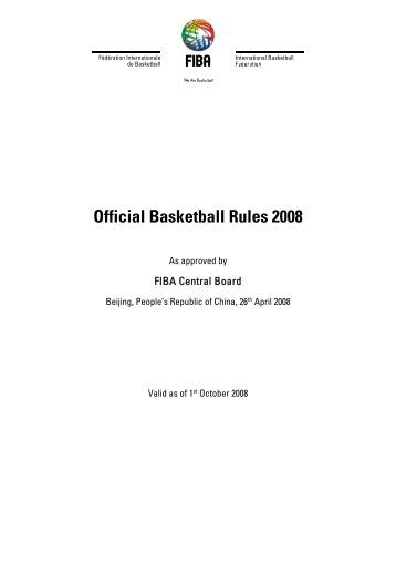 Official Basketball Rules 2008
