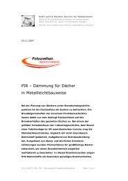 PIR – Dämmung für Dächer in ... - Medien-Service - EnEV-online