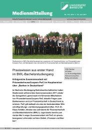 Praxiswissen aus erster Hand - FIBA - Universität Bayreuth