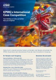 KPMG's International Case Competition 2011 / 2012 - FIBA