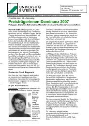 Preisträgerinnen-Dominanz 2007 - FIBA - Universität Bayreuth