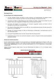 Montageanleitungen für fiberon® - Terrassendielen (PDF) - Fiberdeck