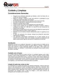 Recomendación para el mantenimiento y limpieza - Fiberon Europe