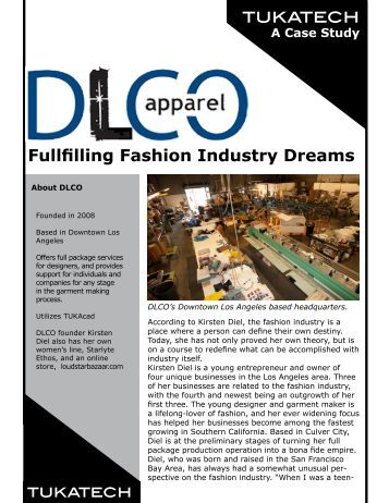 Fullfilling Fashion Industry Dreams - Tukatech