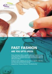 Fast Fashion-Are You upto Speed - ITC Infotech