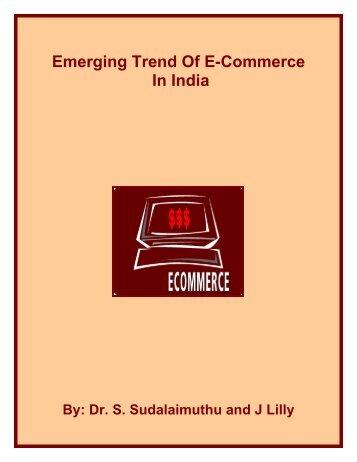 Emerging Trend Of E-Commerce In India - Fibre2fashion
