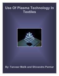 Use Of Plasma Technology In Textiles - Fibre2fashion
