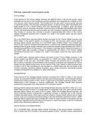 PVH Corp. reports 2011 second quarter results ... - Fibre2fashion