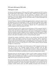 PGI reports third quarter 2010 results Third quarter ... - Fibre2fashion