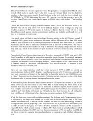 Plexus Cotton market report The certificated stock ... - Fibre2fashion