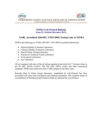 ISO/IEC 17025:2005 - Fibre2fashion