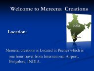 Mereena Creations Location - Fibre2fashion