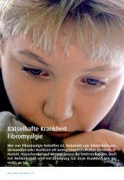 Rätselhafte Krankheit Fibromyalgie - Fibromyalgie Forum Schweiz