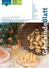 4. Rankler Kartoffltag – Samstag 29. September 2007, 11.00 bis ...