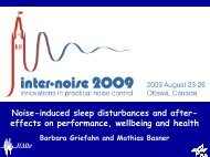 Introduction to Noise Induced Sleep Disturbance - FICAN