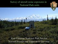 Survey of aircraft noise exposures in National Park units