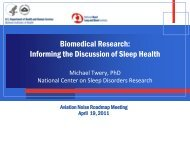 Biomedical Research: Informing the Discussion of Sleep ... - FICAN