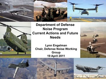 Department of Defense Noise Program Current Actions and ... - FICAN