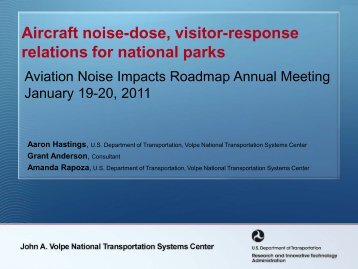 Aircraft noise-dose, visitor-response relations for national parks