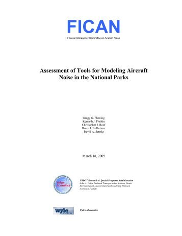 Assessment of Tools for Modeling Aircraft Noise in the National Parks