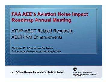 AEDT/INM Enhancements - Federal Interagency Committee on ...