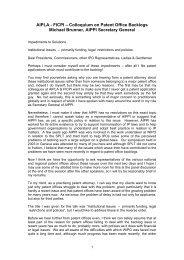 AIPLA - FICPI – Colloquium on Patent Office Backlogs