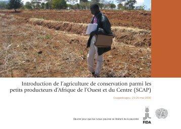 Agenda de l'atelier préparatoire sur la conservation du sol - FIDAfrique