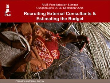 Recruiting External Consultants & Estimating the Budget - FIDAfrique