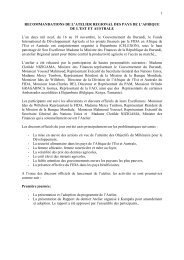 1 RECOMMANDATIONS DE L'ATELIER REGIONAL ... - FIDAfrique