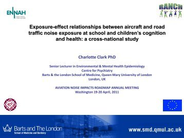 Exposure-effect relationships between aircraft and road traffic noise ...