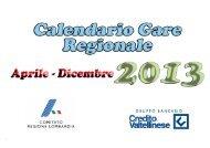Calendario Regionale Estivo - Fidal Lombardia