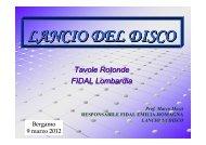 Lancio del disco - Fidal Lombardia
