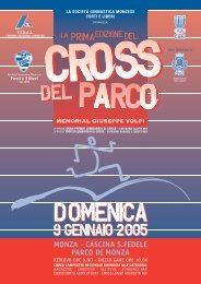 Cross del Parco - Fidal Lombardia
