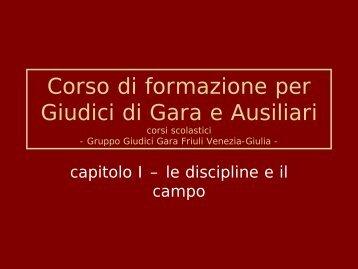 Corso di formazione per Giudici di Gara e Ausiliari - Fidal