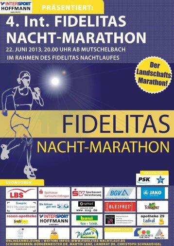 Ausschreibung Nachtmarathon - Fidelitas Nachtlauf