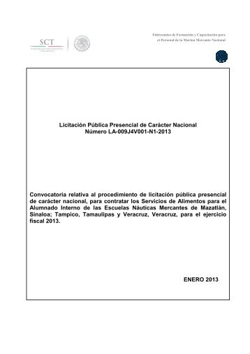 bases convocatoria alimentacion escuelas náuticas 2013 - Fidena