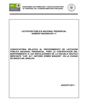 Convocatoria Licitación - Fidena