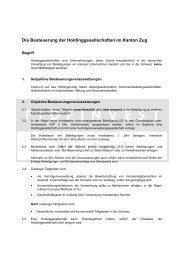 Besteuerung HoldinggesellschaftenLogo - Fidfinvest Treuhand, Zug
