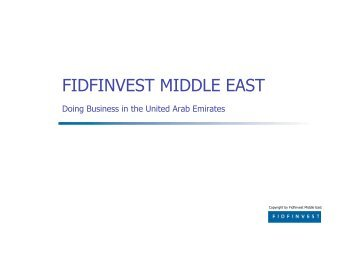 FIDFINVEST MIDDLE EAST - Fidfinvest Treuhand, Zug