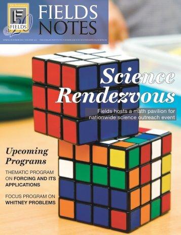 Upcoming Programs - Fields Institute - University of Toronto