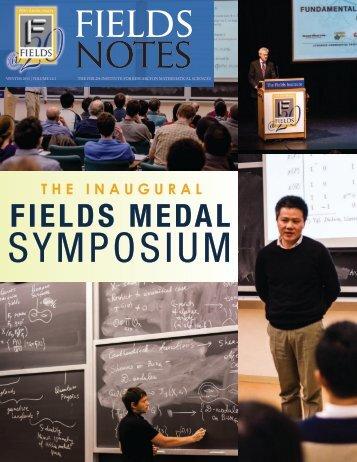 Fields Notes, Winter 2013 - Fields Institute - University of Toronto