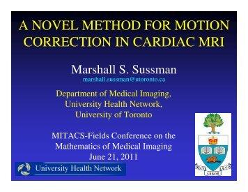 Marshall Sussman - University of Toronto