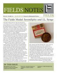 Fields Notes, May 2010 - Fields Institute - University of Toronto