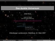 Das dunkle Universum - Field Theory - Universität Oldenburg